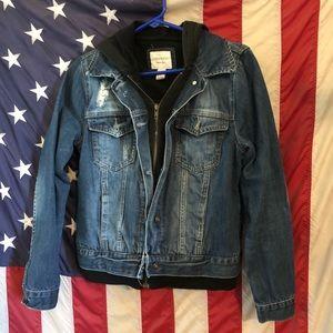 Forever 21 Denim jacket w/ hoodie